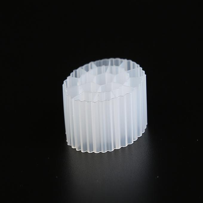 White Color MBBR Filter Media K3 Bio Media Good Impact Resistance With Virgin HDPE