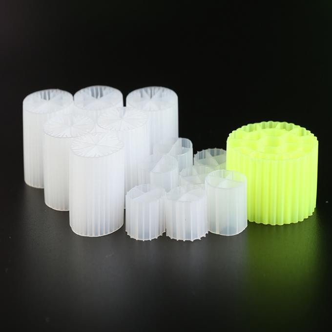 Virgin HDPE MBBR Plastic Filter Media With Good Surface Area And White Color