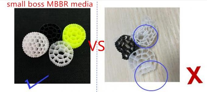 Hdpe Eco Friendly MBBR Bio Carrier 25*5mm Activity Floating Biomass Balls