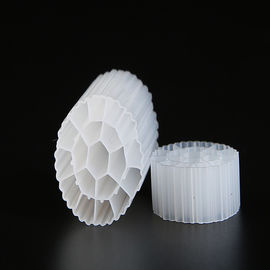 Virgin HDPE Material MBBR Filter media With White Color And Long service Life For 35*18mm Size