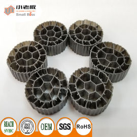 PE06 Balck Color MBBR Filter Media Virgin HDPE Material For 25*12mm Size